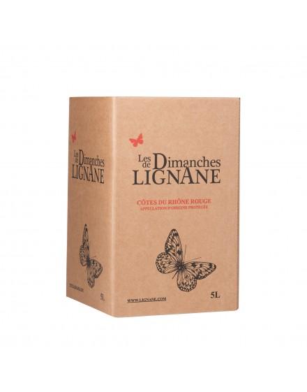 Les Dimanches de Lignane Rouge BIO BIB 5l
